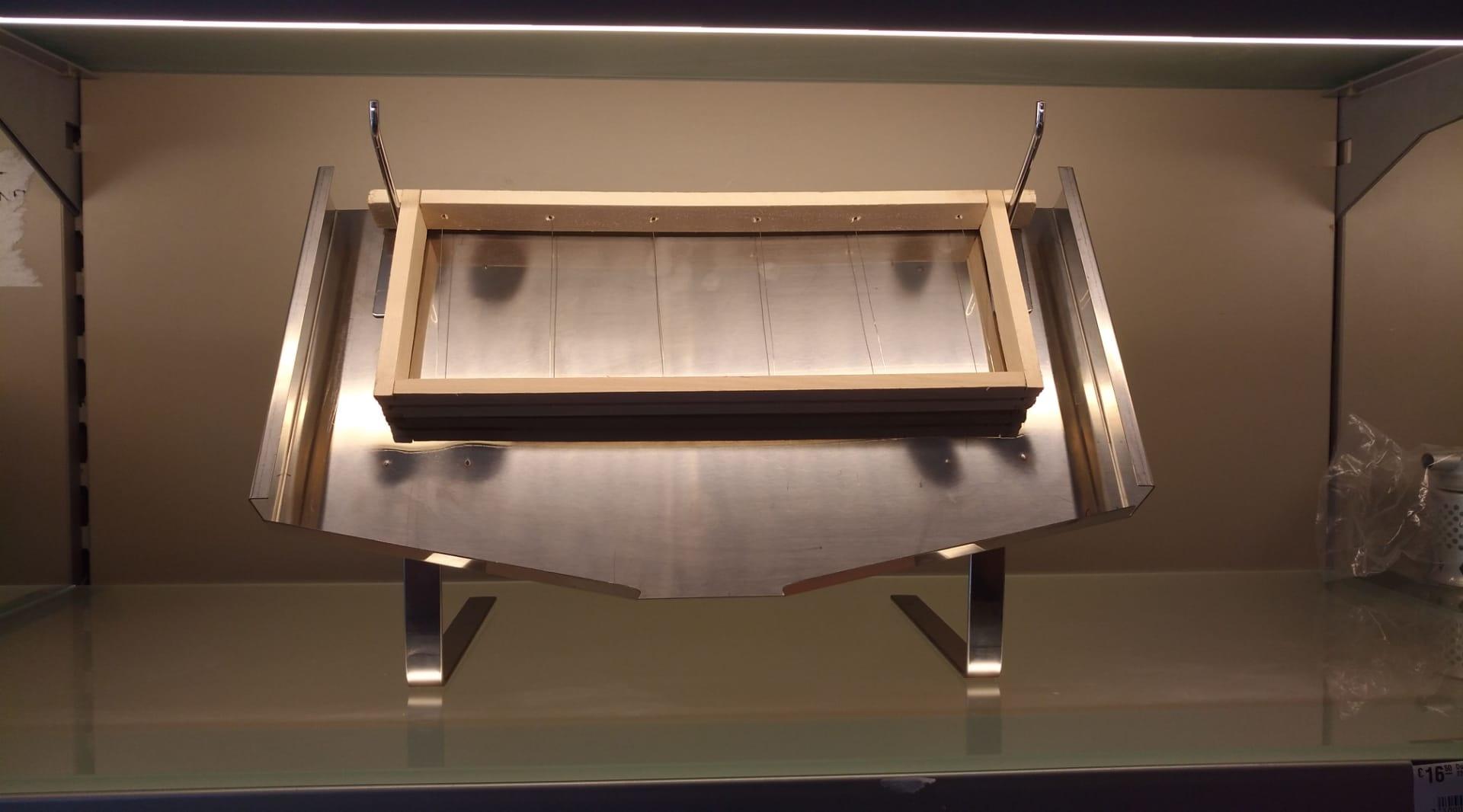 Honingraam display stand - inox-1