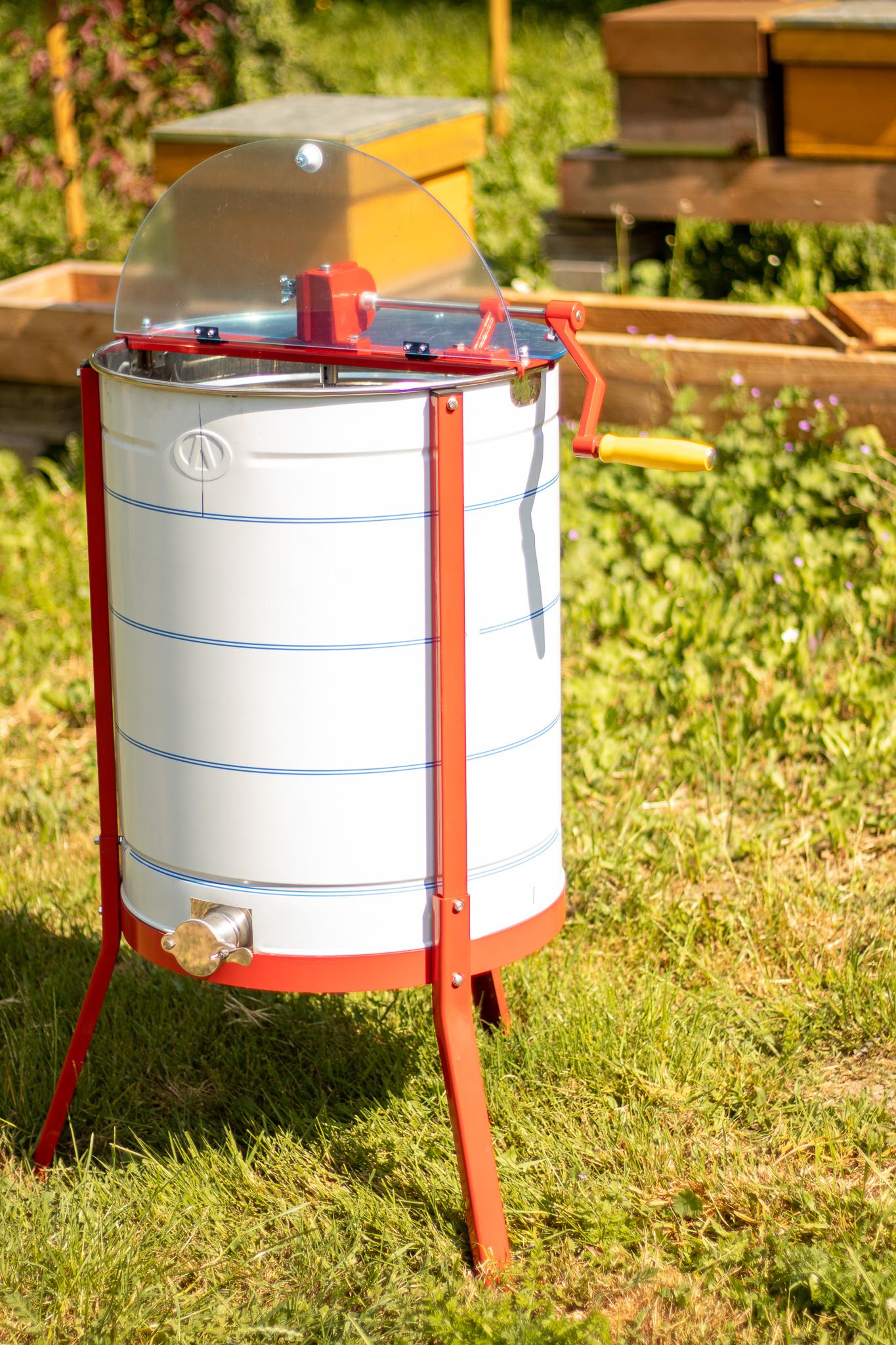 Apini - Manuele 3/6 raams honingslinger ø500mm (inox kraan)-2