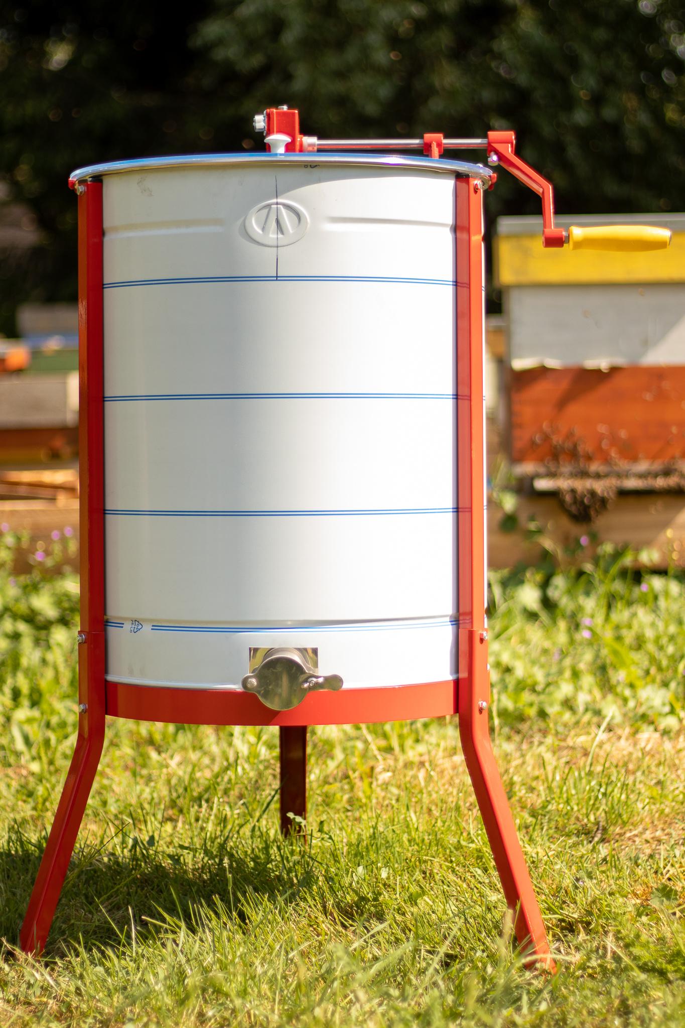 Apini - Manuele 3/6 raams honingslinger ø500mm (inox kraan)-1