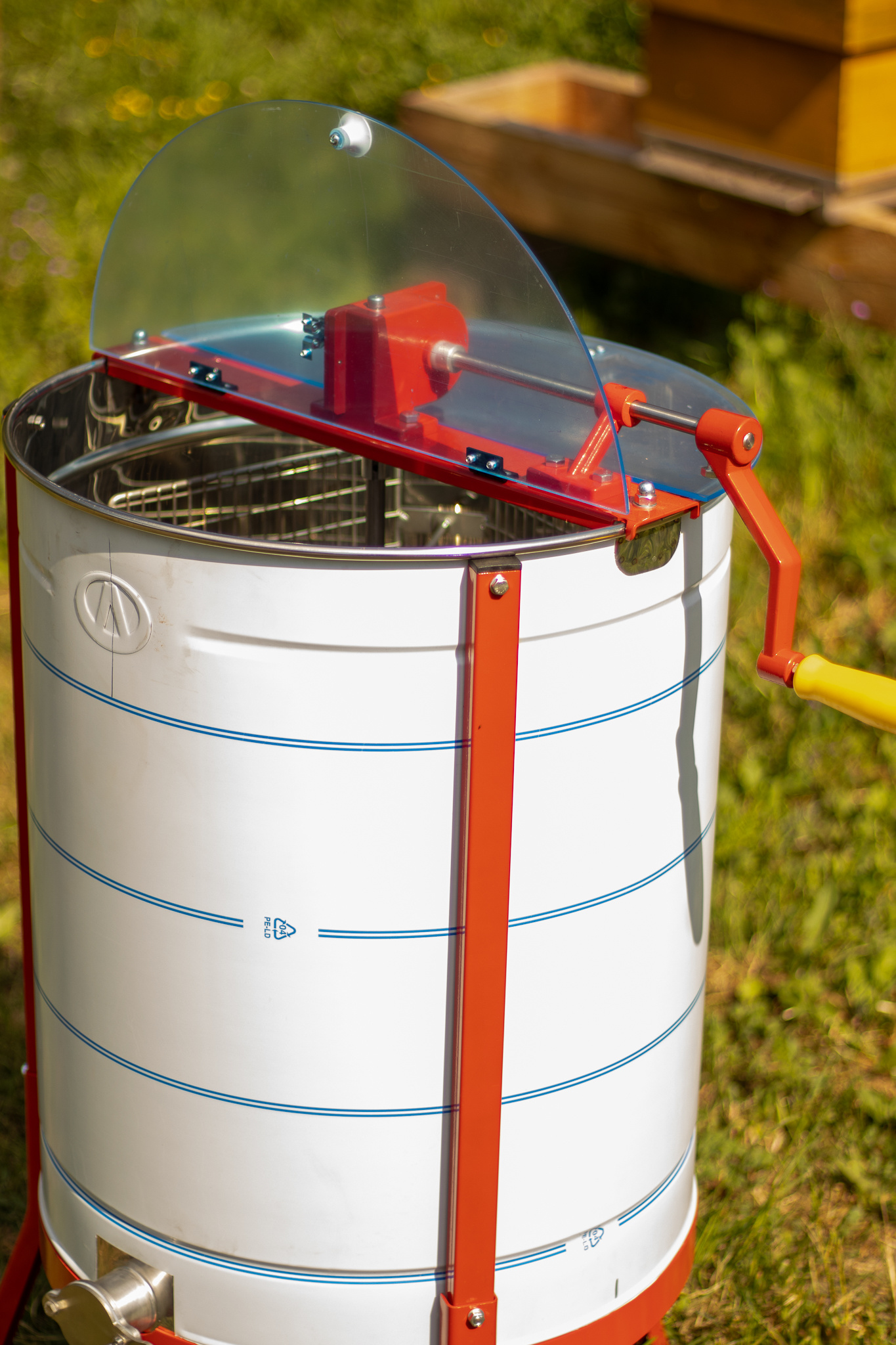 Apini - Extracteur de miel manuelle 4 cadres ø500mm-2