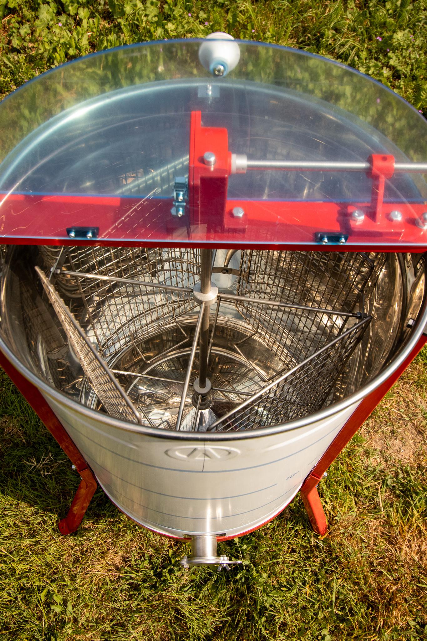Apini - Extracteur de miel manuelle 4 cadres ø500mm-3