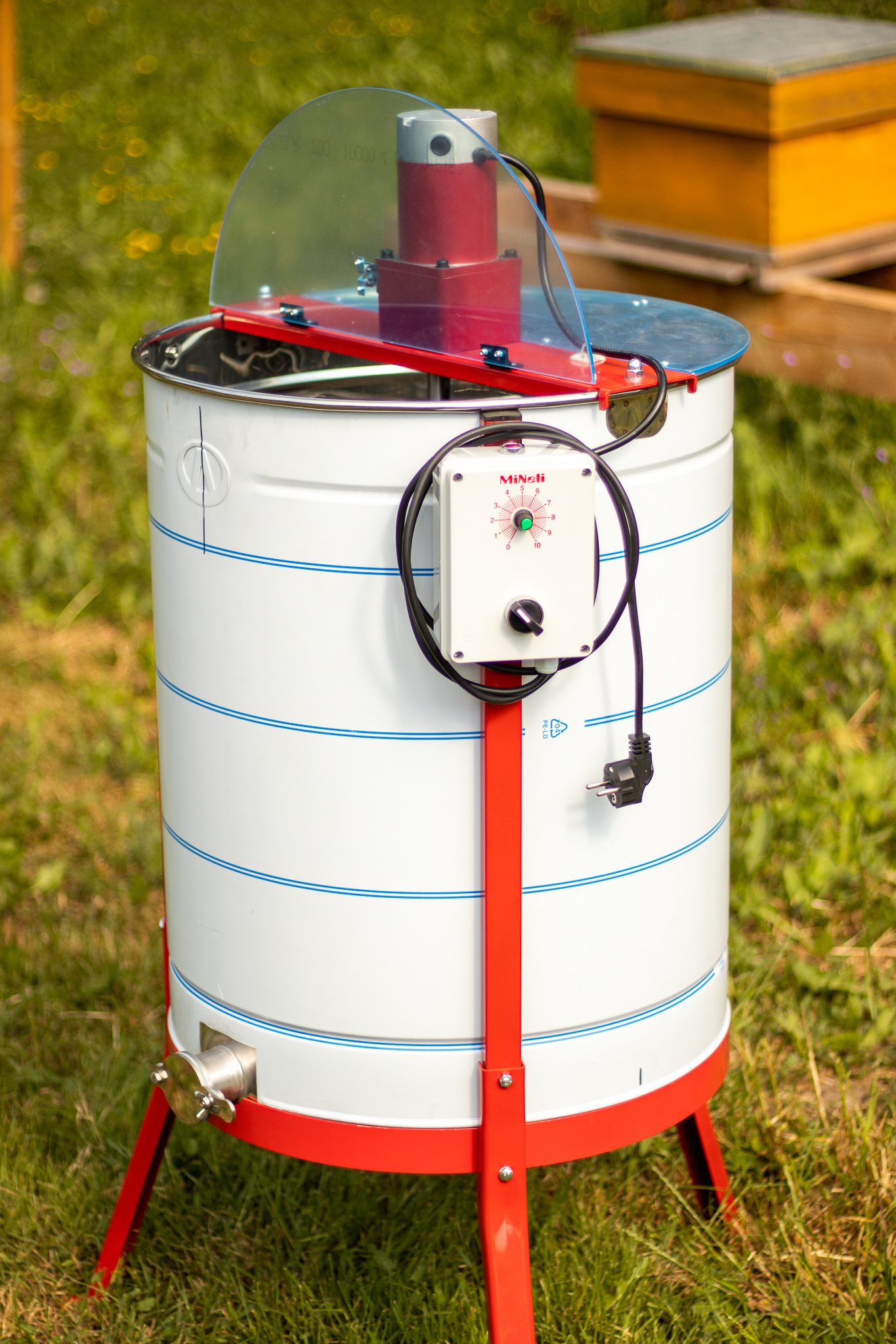 Apini - Elektrische 3/6 raams honingslinger ø500mm (inox kraan)-2