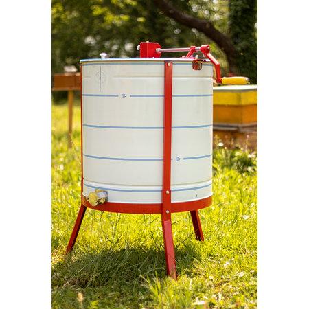Apini - Manual honey extractor 6 frames ø600mm (stainless steel honey gate)