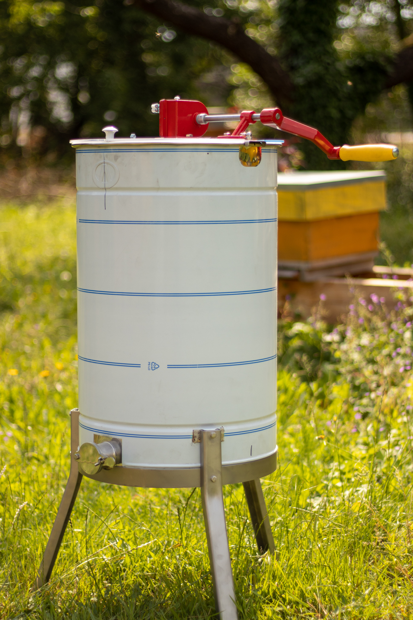 Apini - Manuele 3 raams honingslinger ø400mm-2