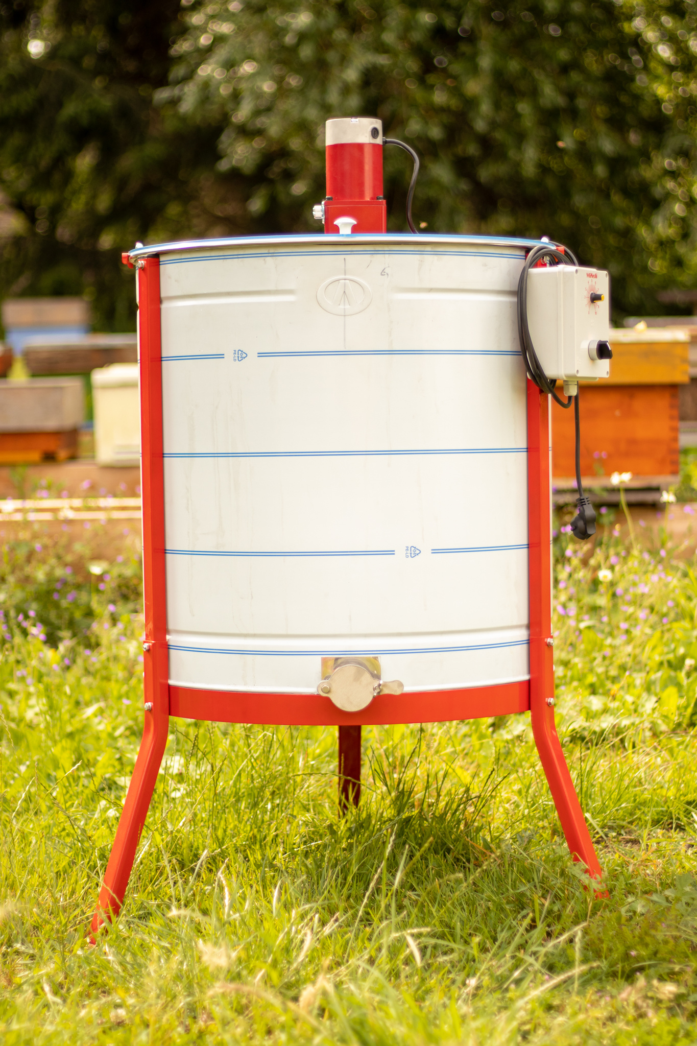 Apini - Elektrische 12 raams honingslinger ø600mm-1