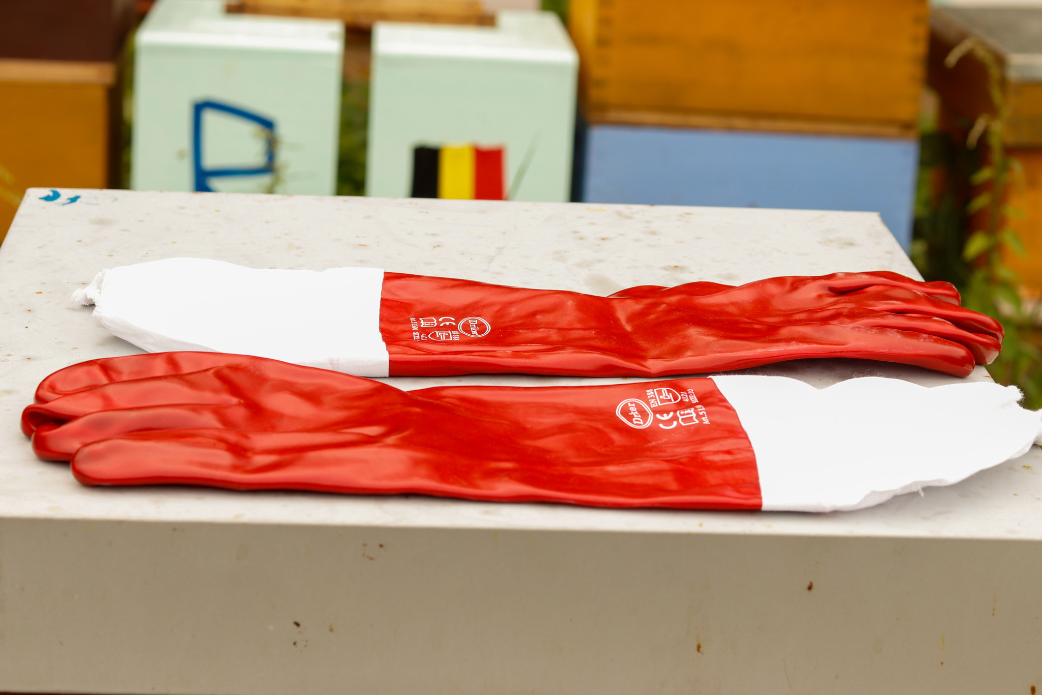 Gants de protection contre l'acide - taille 10 / XL-1
