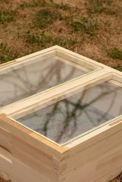 Simplex dubbele glazen afdekplaat - imperfectie