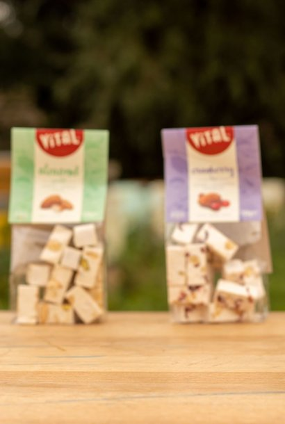 Zakje Nougat - vanille & chocolade - 150 gr