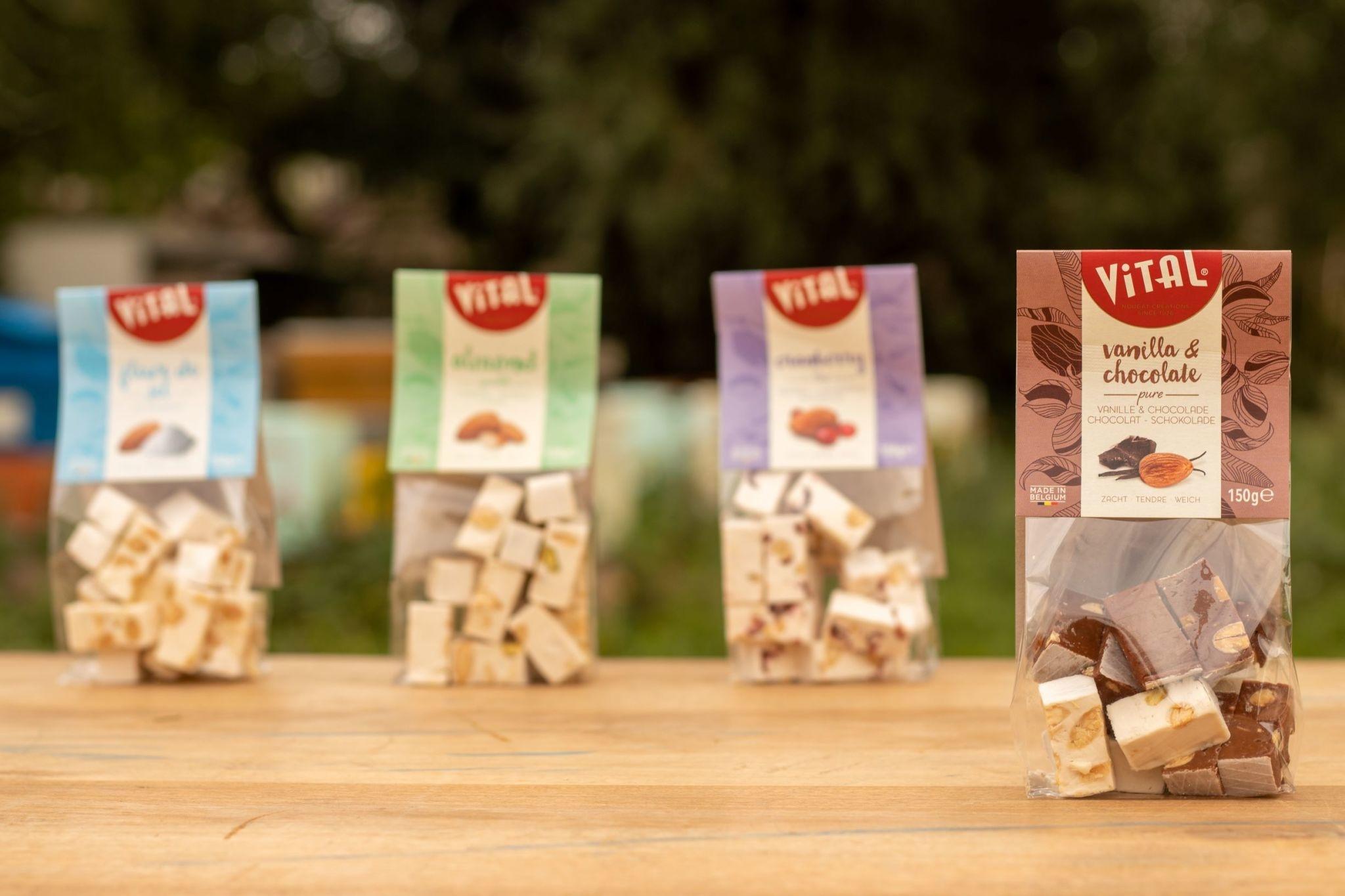 Zakje Nougat - vanille & chocolade - 150 gr-1