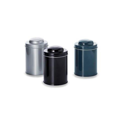 Herbruikbaar theedoosje (grijs) - 150 gram