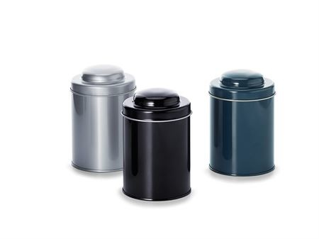 Boîte à thé réutilisable (grise) - 150 grammes-1