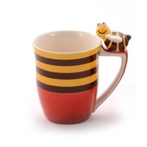 Fritzi mug (striped with red underside)