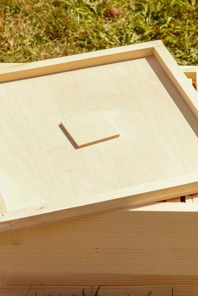 Couvre-cadres en bois avec trou nourrisseur ruchette Simplex