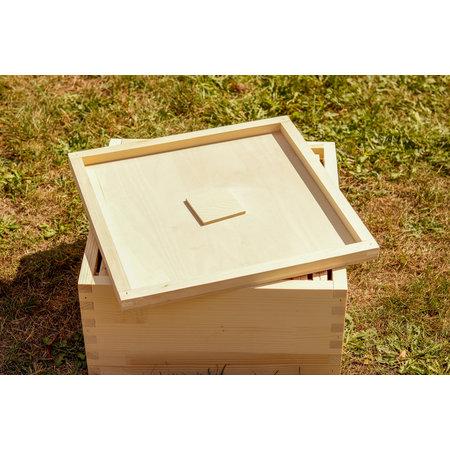 Houten afdekplaat met voedergat Simplex afleggerkast