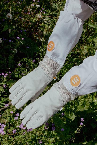 Lederen handschoenen met verluchting