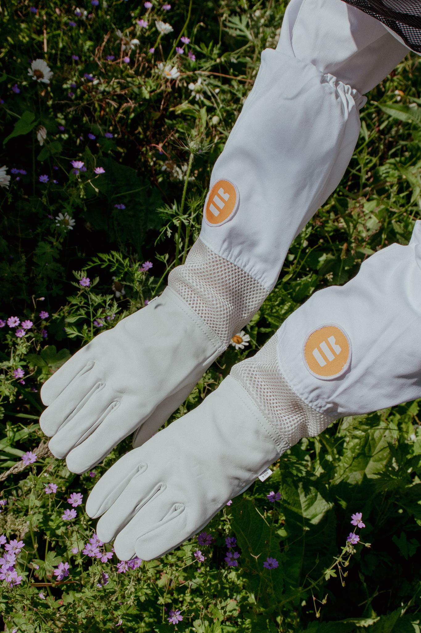 Lederen handschoenen met verluchting-1
