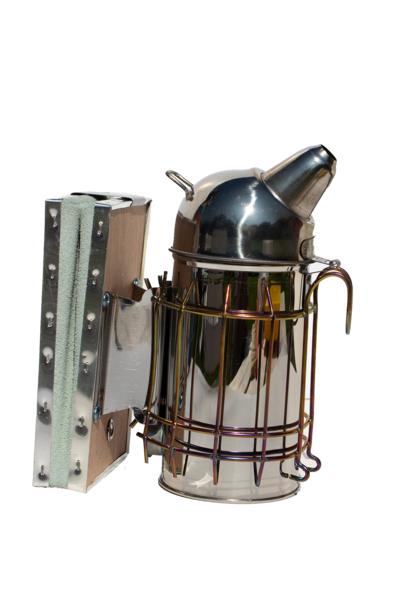 Inox smoker + heat shield (80mm)
