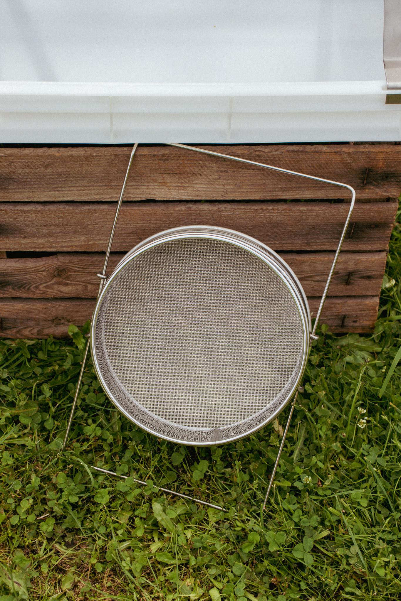 Dubbele inox zeef - ø 22cm-2