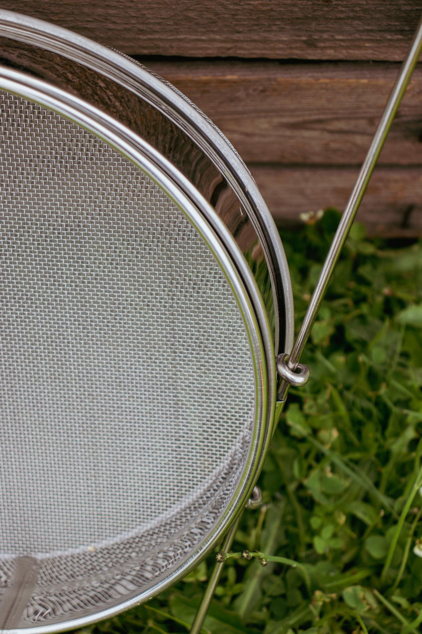 Dubbele inox zeef - ø 22cm-3