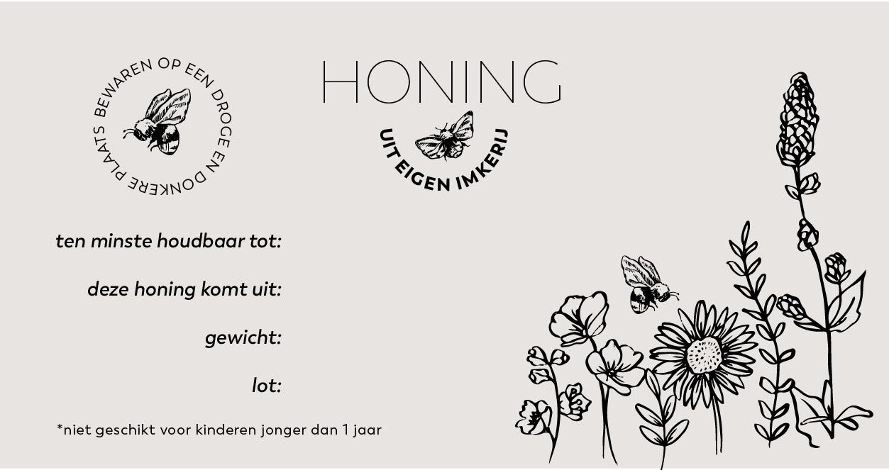 Honingetiket Stickervel 10st-3