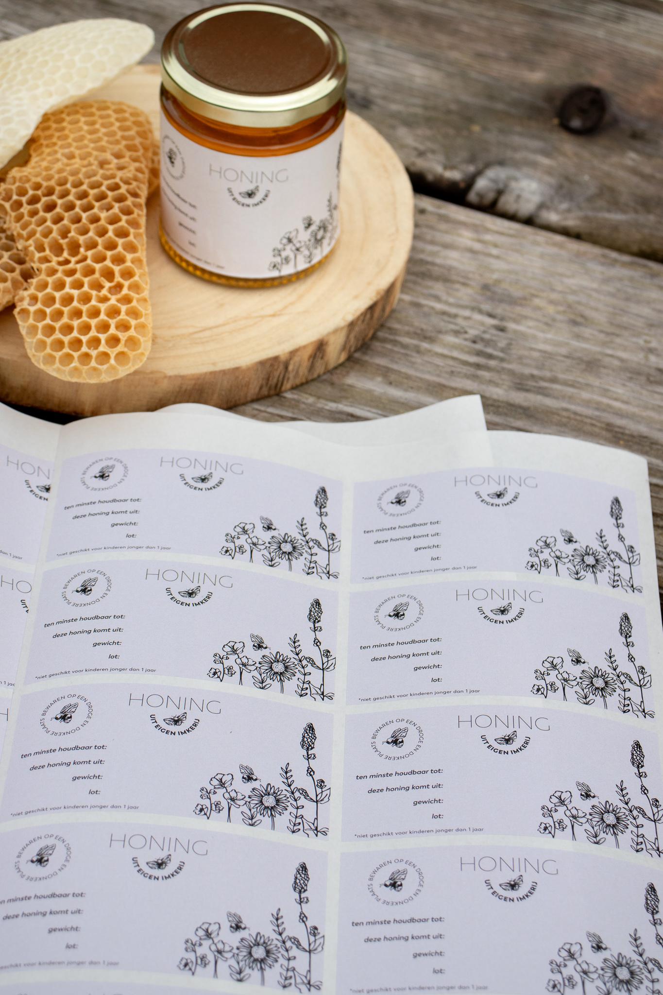 Honingetiket Stickervel 10st-2