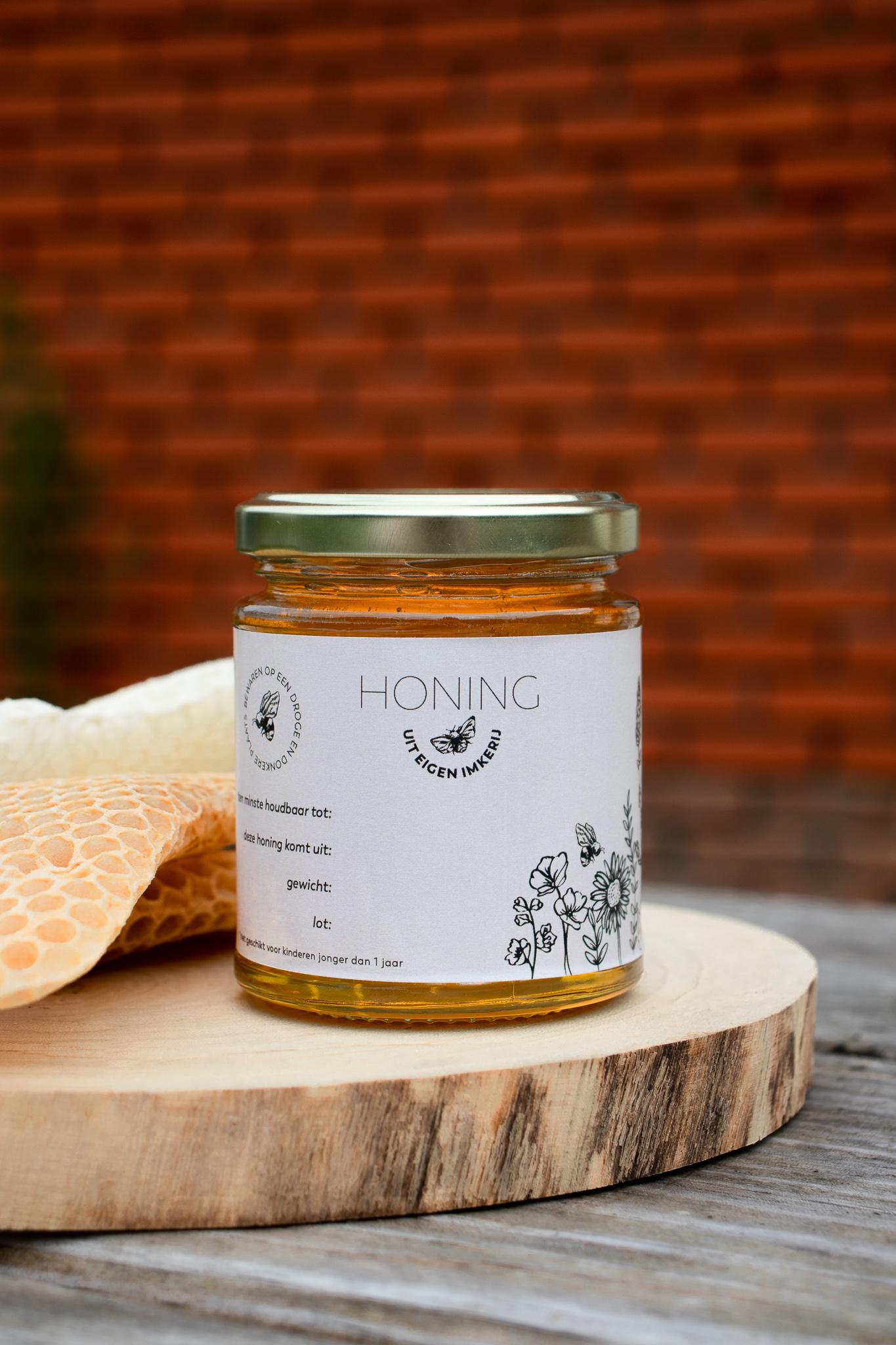 Honingetiket Stickervel 10st-1