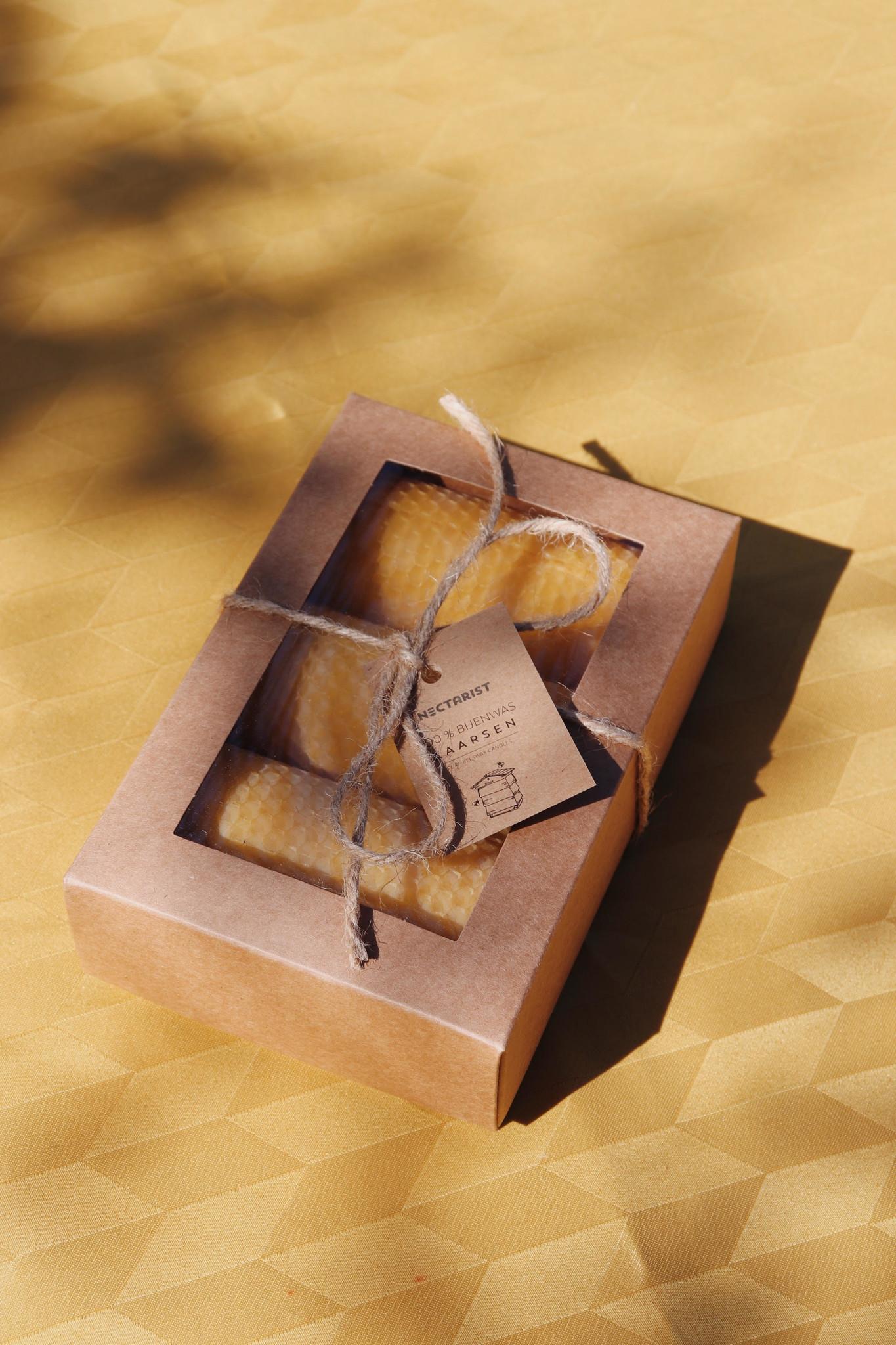 set van 3 bijenwas kaarsen-2