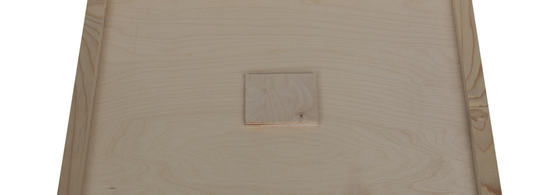 Houten afdekplaat met voedergat Simplex