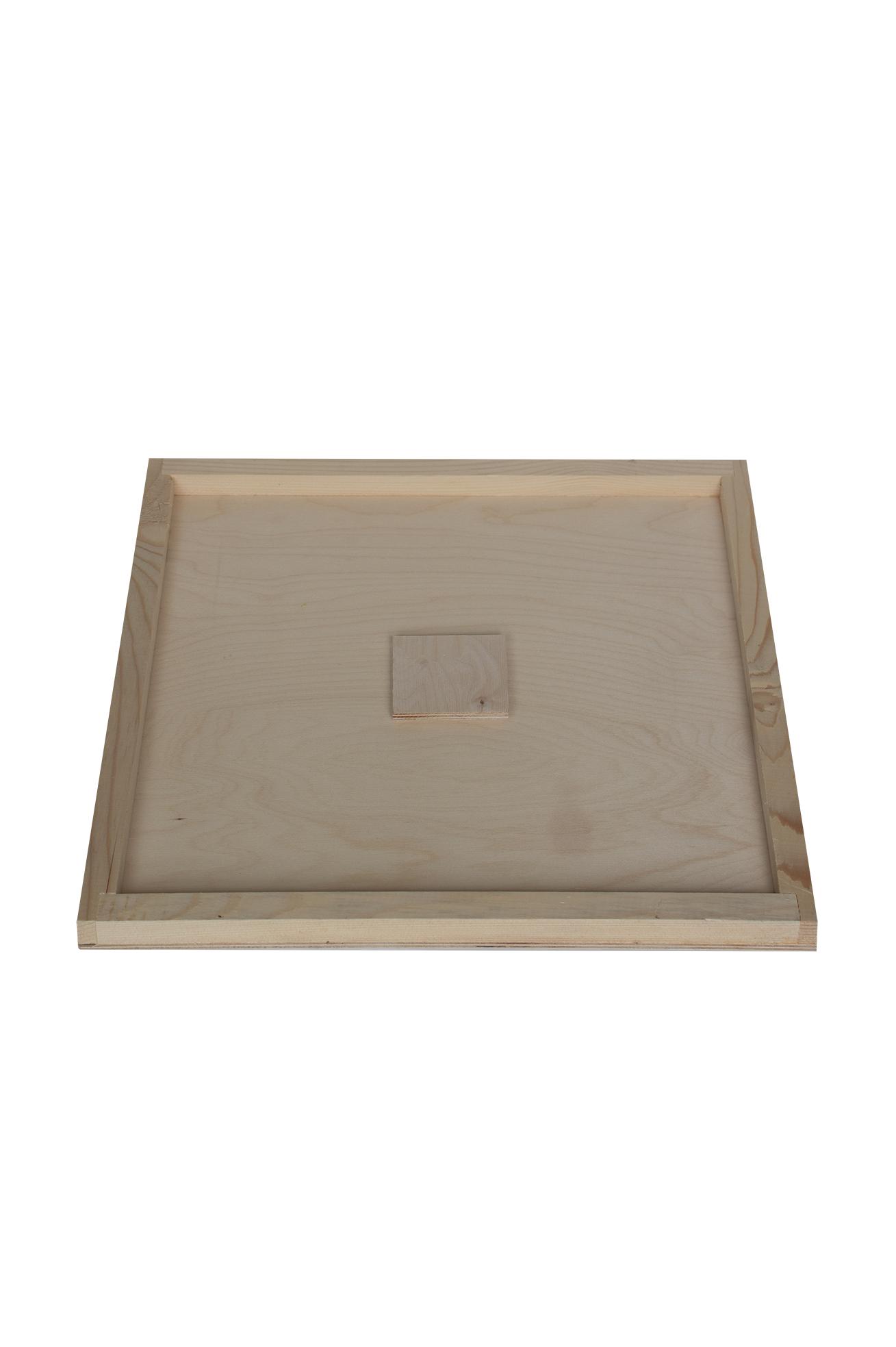 Houten afdekplaat met voedergat Simplex-1