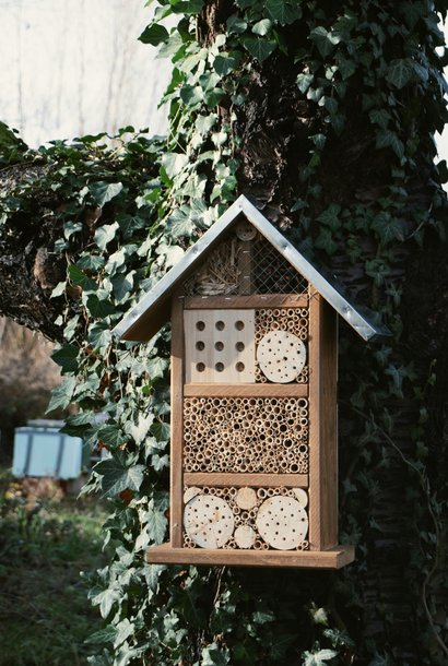 Insect hotel for wild bees and insects
