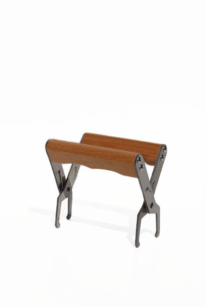 Pince lève-cadre avec poignée en bois - inox