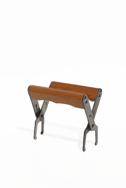 Ramentang met houten handvaten - inox