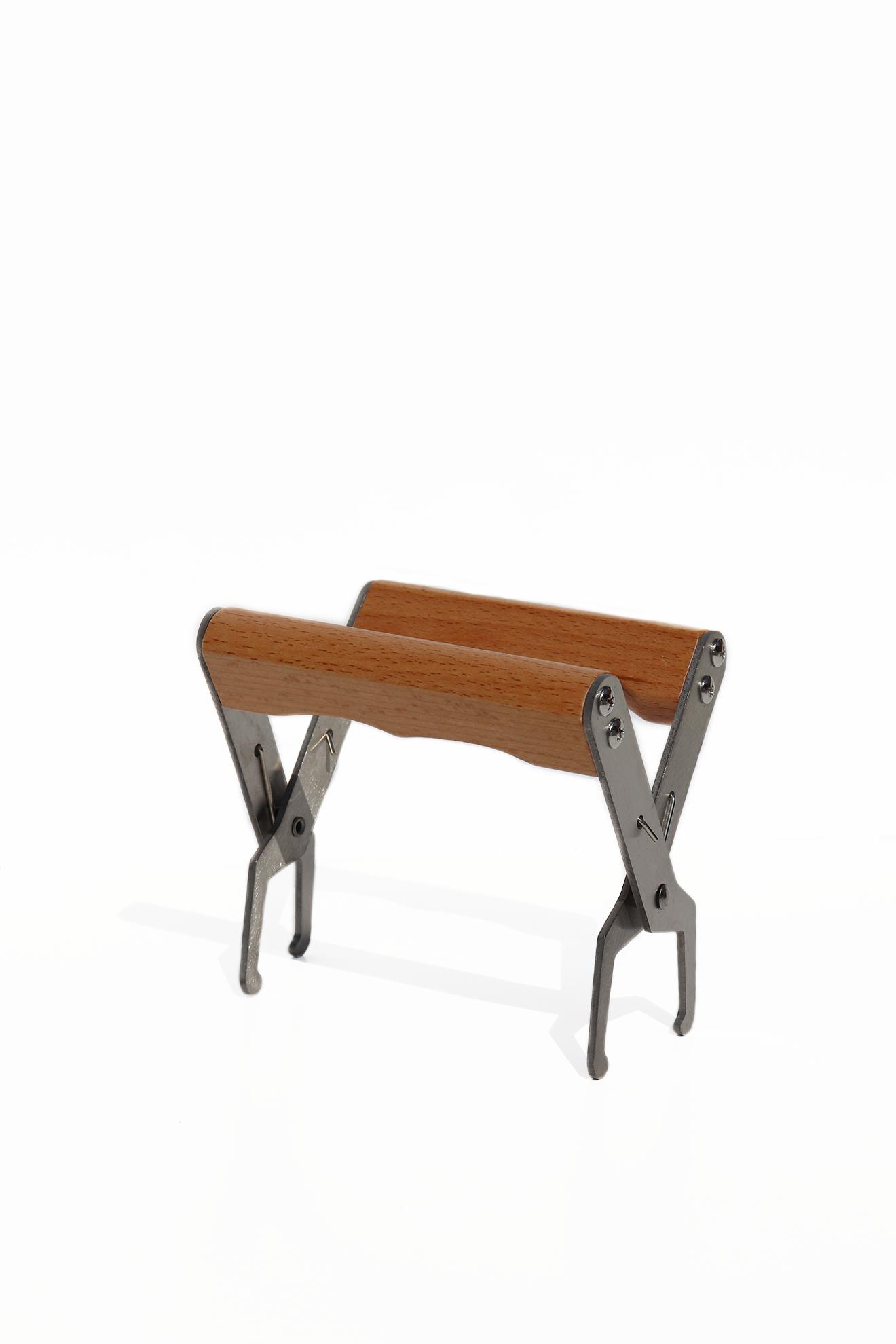 Ramentang met houten handvaten - inox-1