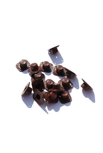 Bruine nicot bevestiger (100 stuks)