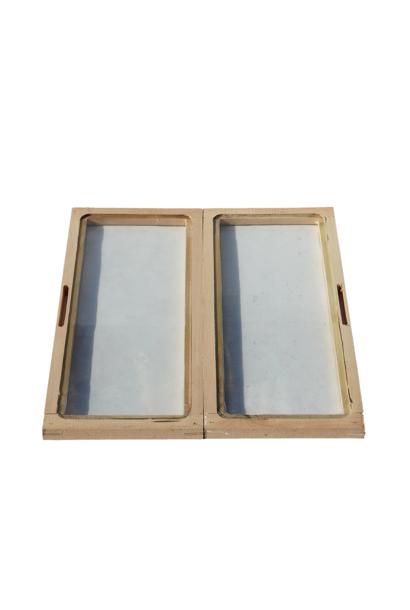 Dubbele glazen afdekplaat Dadant Blatt 10