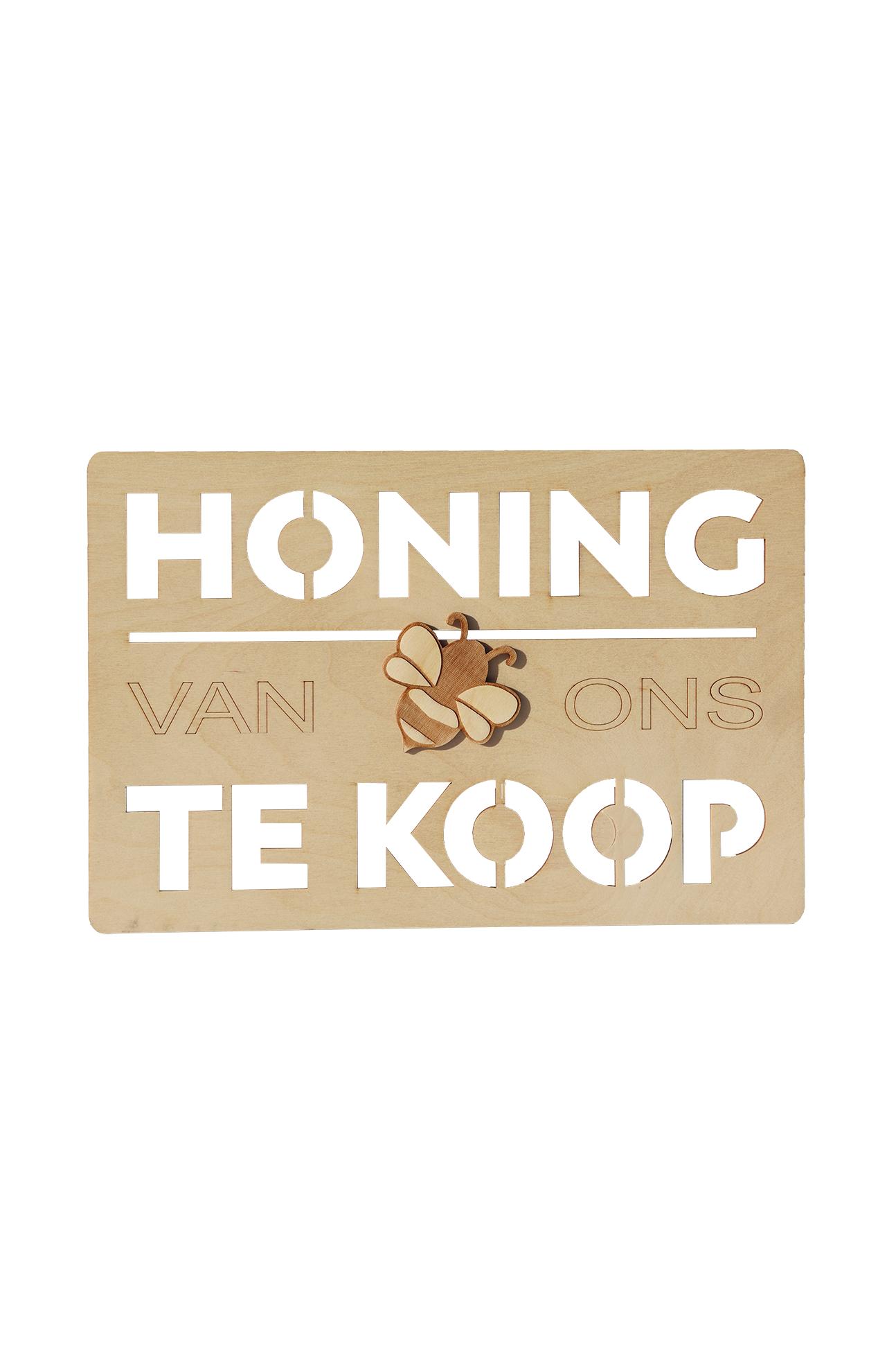 Houten bordje honing te koop-1
