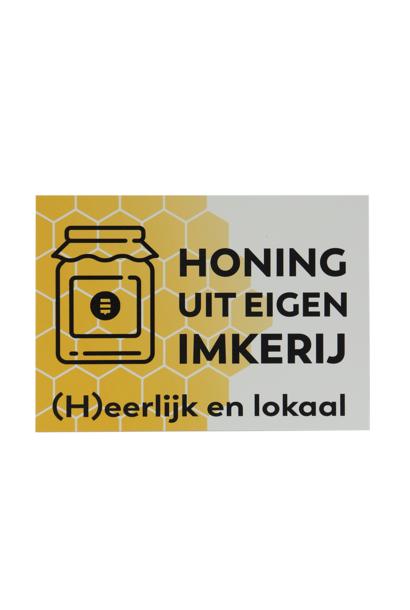 Plakkaat honing uit eigen imkerij
