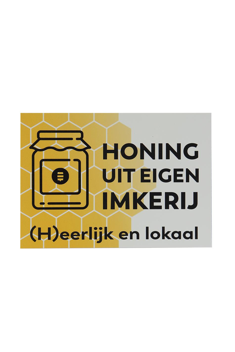 Plakkaat honing uit eigen imkerij-1