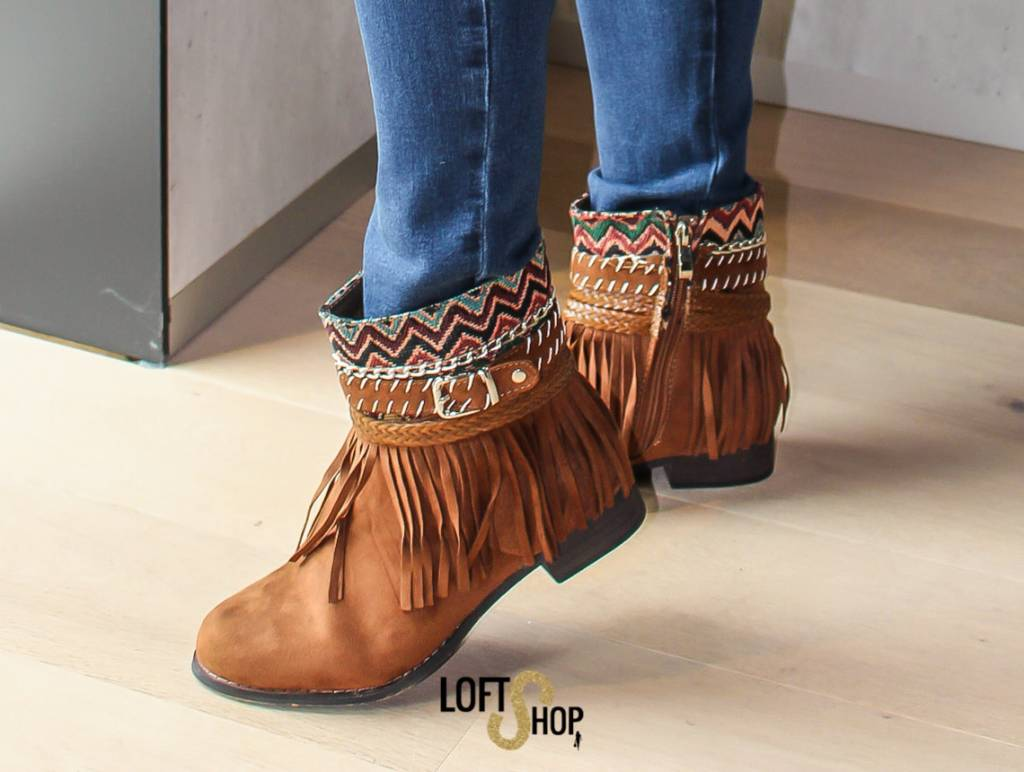 Nionio Boots Indian Camel