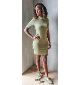 Lofty Manner Dress Tindra Khaki