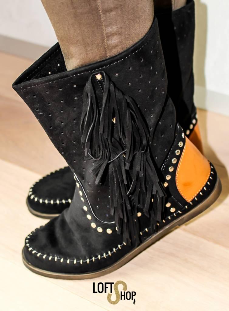 Nionio Indian Boots Black