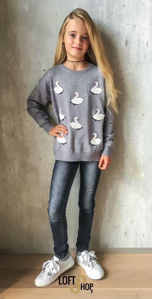 Grasstar Pull Swan Grey