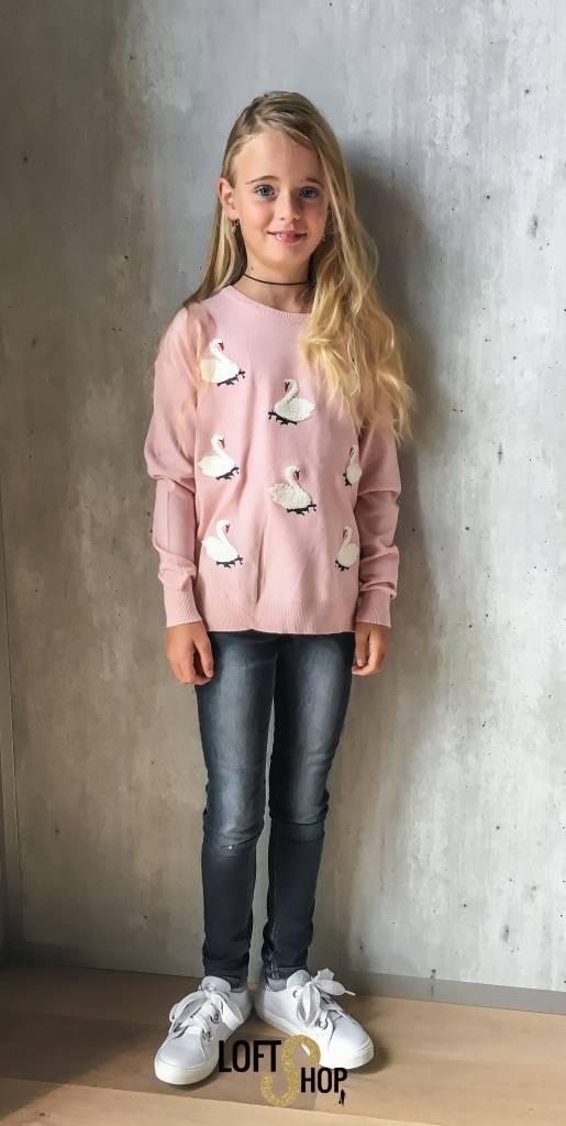 Grasstar Pull Swan Pink