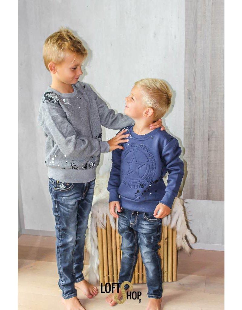 Freestar Sweater Ster Blauw