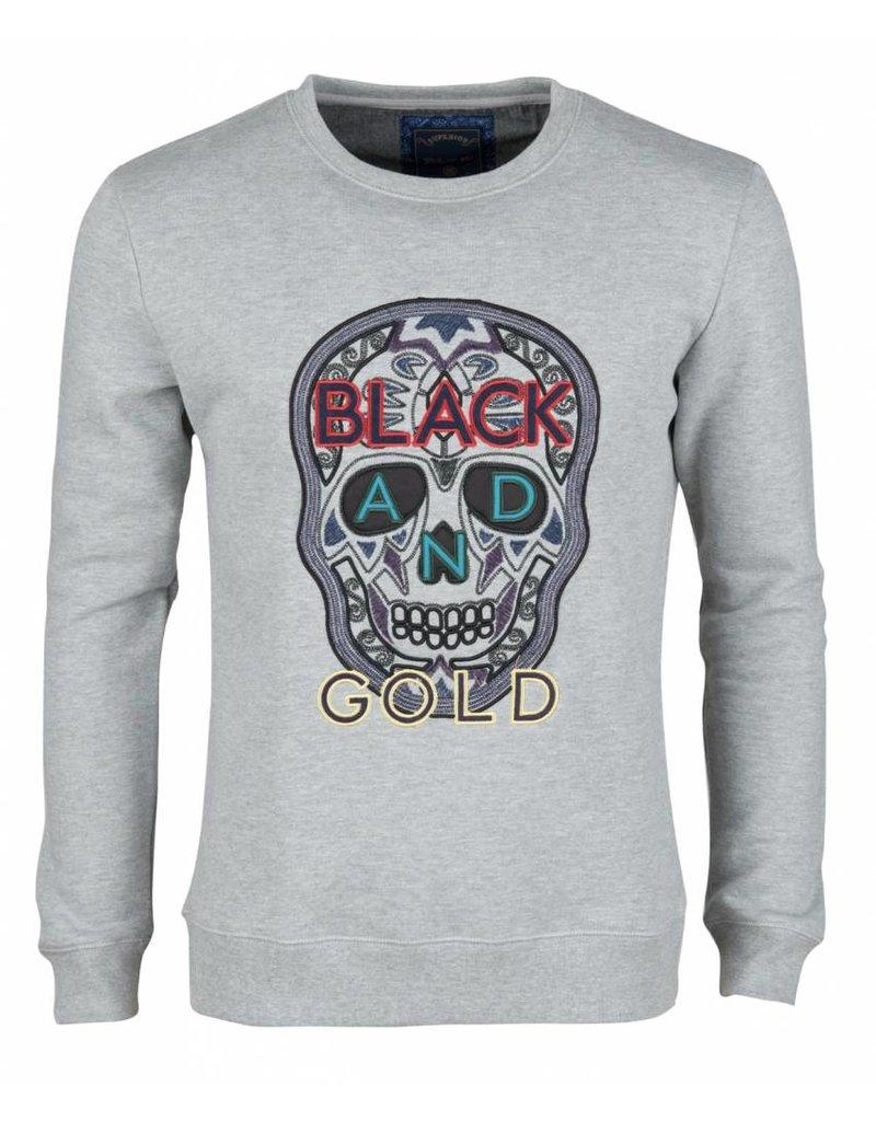 Black and Gold Craneo Grey Melange Red