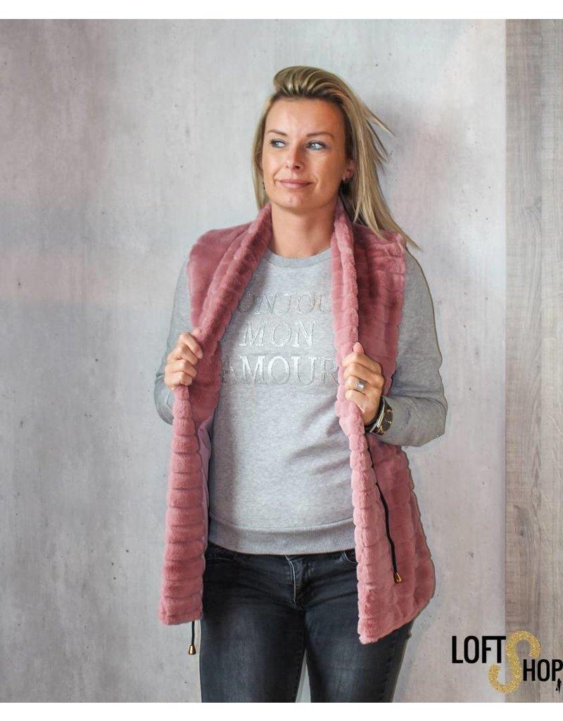 K-Design M300 Sweatshirt Bonjour mon amour Grey