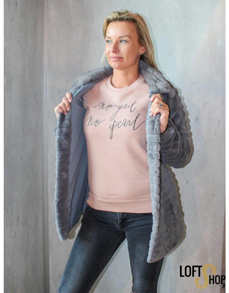 K-Design M301 Sweatshirt No grit no pearl Vieux Rose