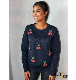 K-Design M351 Sweatshirt I cherry-isch you Navy