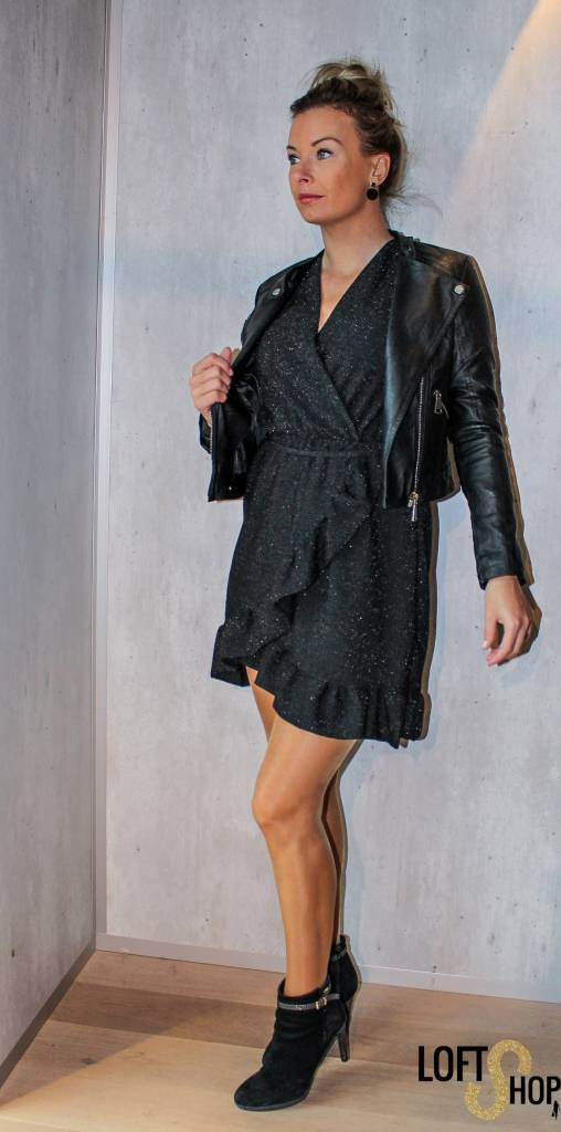 Lisa Fashion Dress Daisy Black TU