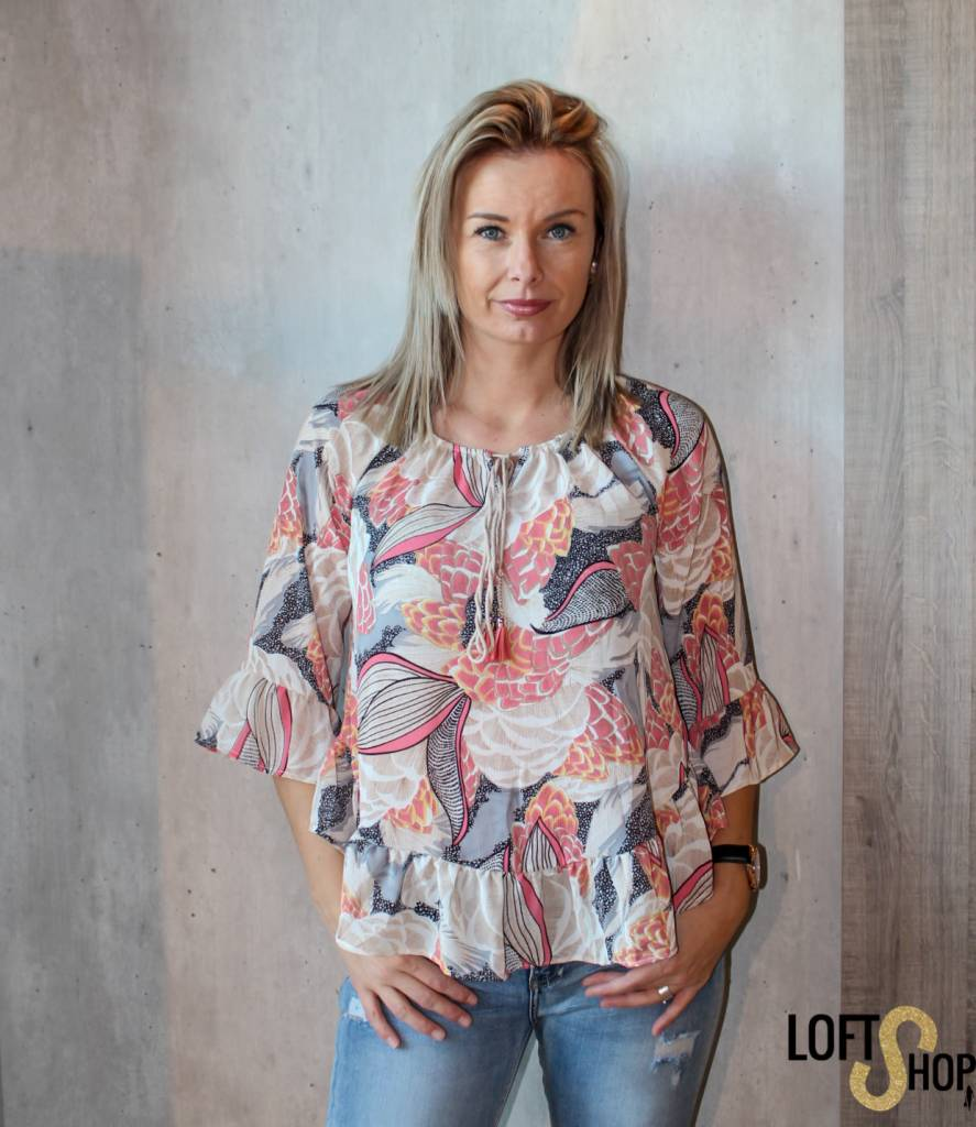 V-Code Blouse Sue Pink